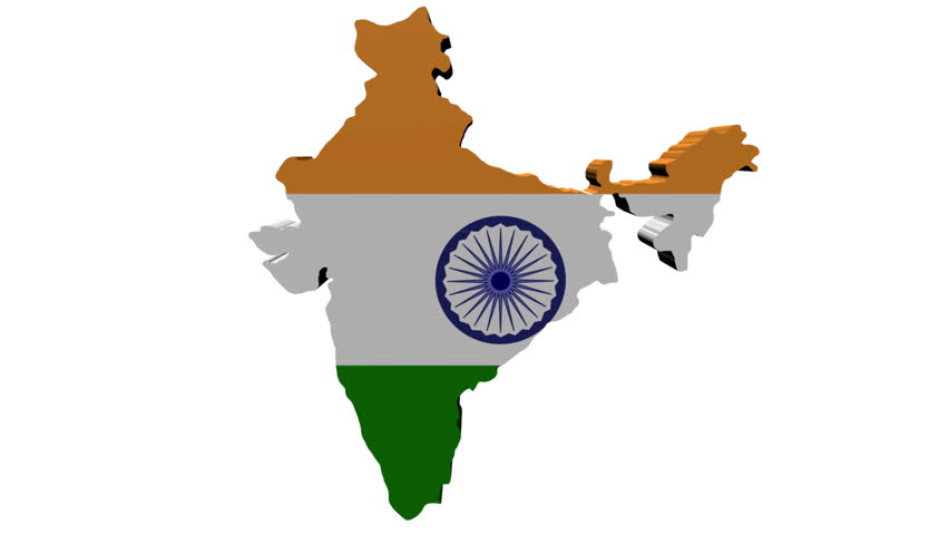 India Map Flag.India Map Flag With Container Stock Footage Video 100 Royalty