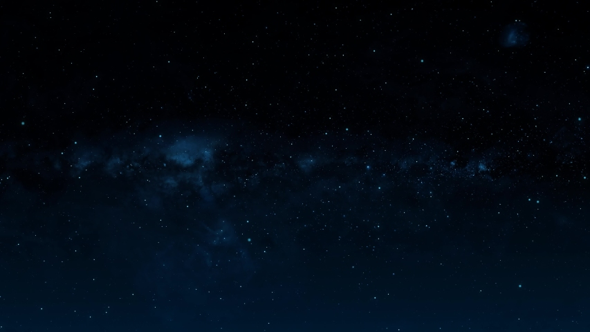 Flying Through The Stars And Blue Nebula In Space. Looped Video. Space Background. | Shutterstock HD Video #1044641737