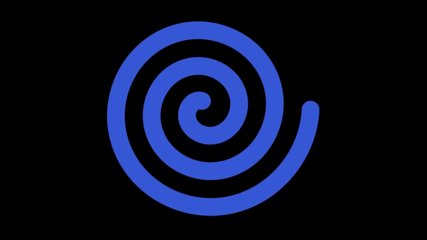 Spiral-shaped graphic object that rotates clockwise in the center, varying in size, on a background with a hypnotic, psychedelic and stroboscopic effect. | Shutterstock HD Video #1044822247