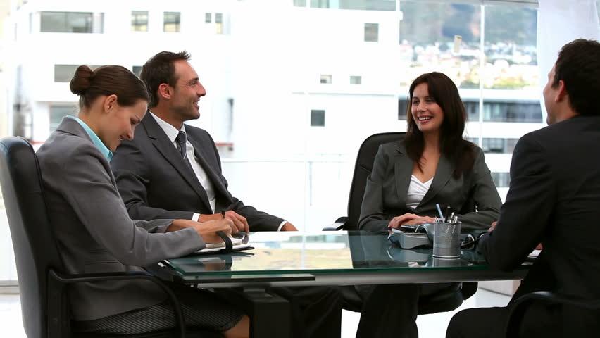 Businessmen and businesswomen working together #1044964