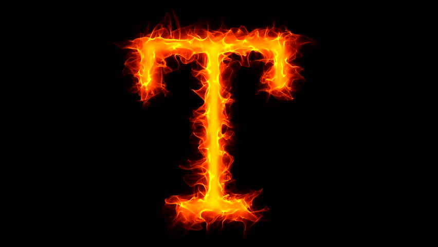 3d3fce9e90017 Letter T On Fire Stock Footage Video (100% Royalty-free) 1045027 ...