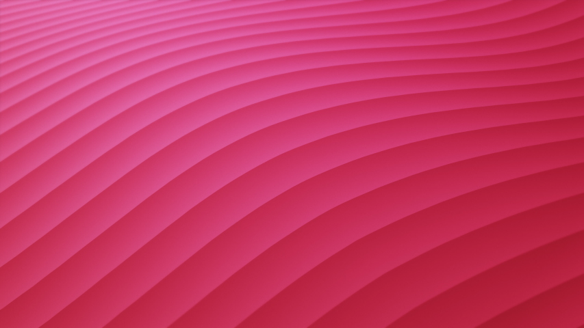 Rows or lines dynamic waving and distorting loop. Pink colored stripes rippling. Simple colorful gradient animation. Bright surface with perspective. Material, minimalistic seamless motion 4K backdrop   Shutterstock HD Video #1045207987