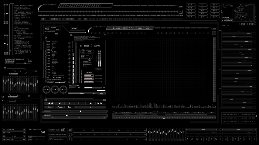 HUD technological template.Futuristic technological digital infographic.Viewfinder tech frame User Interface. | Shutterstock HD Video #1046890477