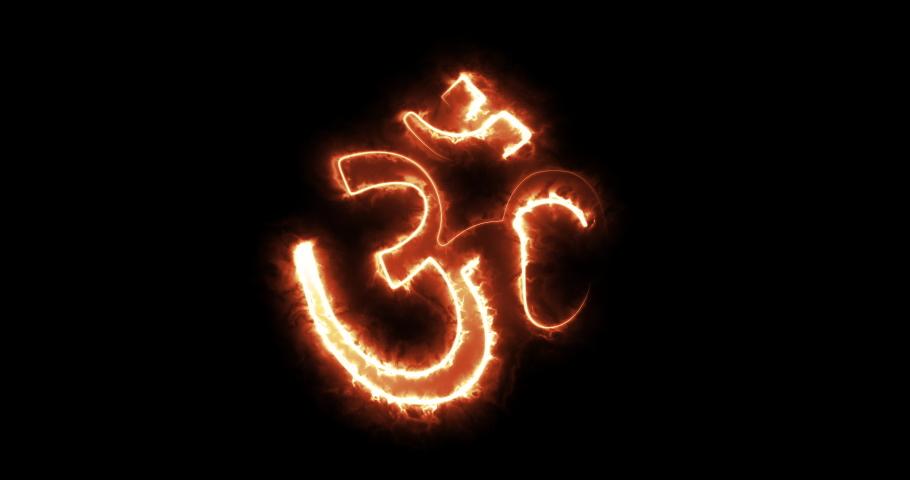4 different hindu symbol animations | Shutterstock HD Video #1046905987