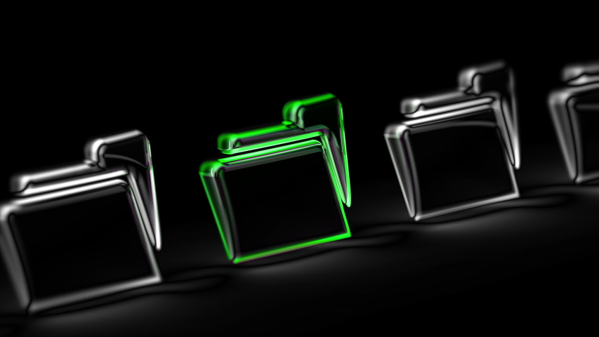 File icon in black background. Looping footage. 3D Illustration. | Shutterstock HD Video #1047254287