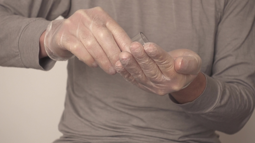 Learning how to efficiently washing hand using professional technique. This training could be useful to avoid propagation of illness, especially Coronavirus. | Shutterstock HD Video #1047617017