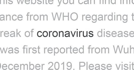 Coronavirus in the headlines of media news around the world. Video with zoom.