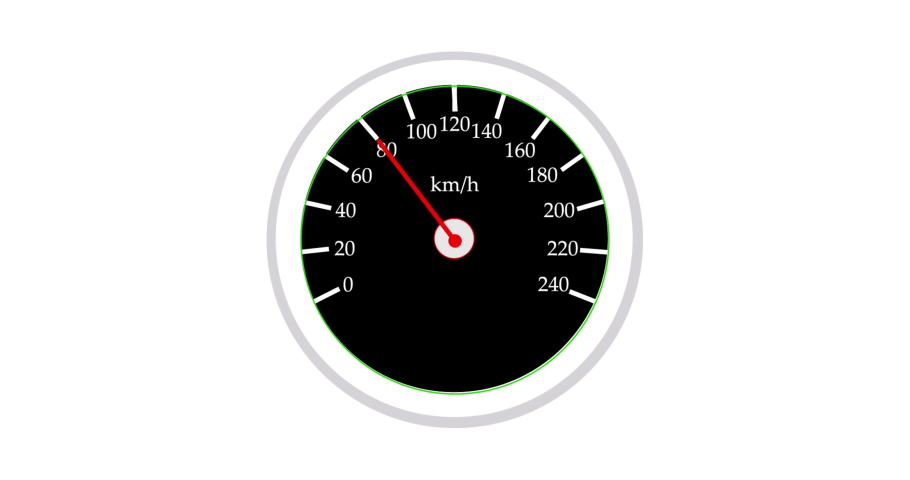 Speedometer  speedo clock black turn  | Shutterstock HD Video #1049162887