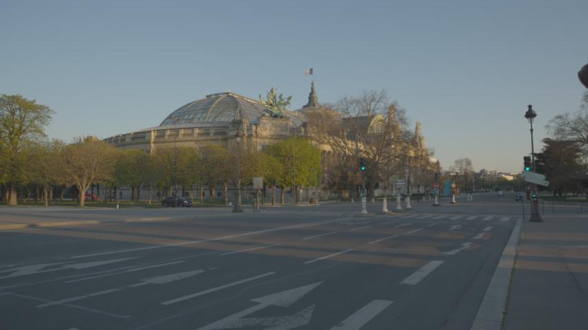 Grand Palais Vide Paris Coronavirus Confinement | Shutterstock HD Video #1049307337