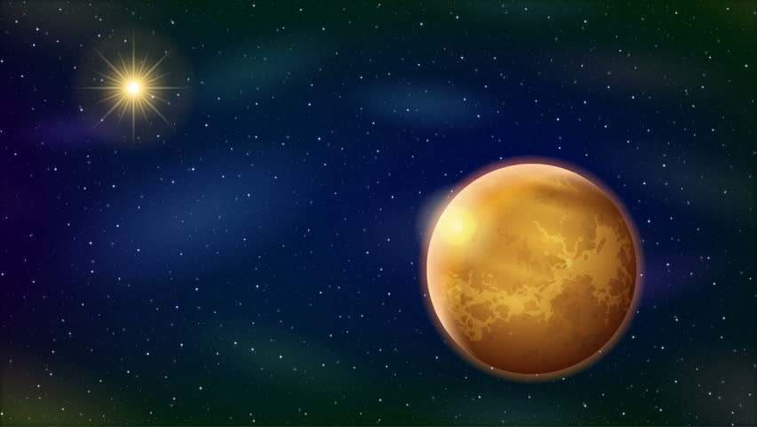 Fullhd 1920x1080 progressive seamlessly looping video of space fullhd 1920x1080 progressive seamlessly looping video of space with planet venus sun bright stars and nebulas animated background stock footage video voltagebd Choice Image