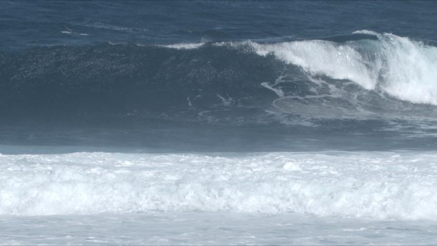 Powerful Waves breaking in the sea, Fuerteventura, Canary Islands. | Shutterstock HD Video #1049632027