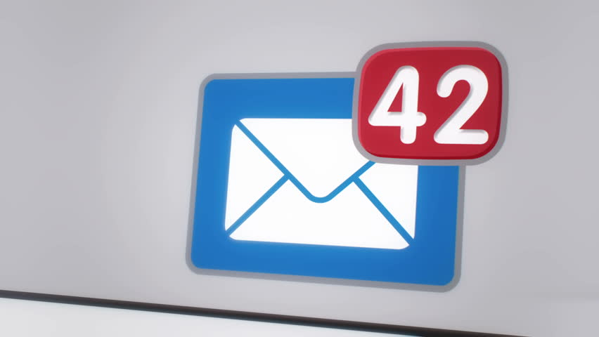 Close up of e-mail inbox with multiple messages appearing in the mailbox | Shutterstock HD Video #10497011