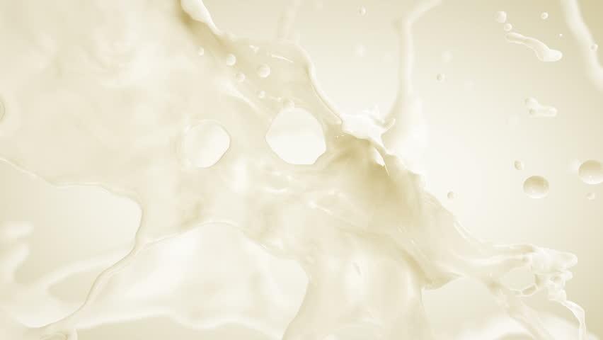 Milk Splash. Slow motion.With mask.