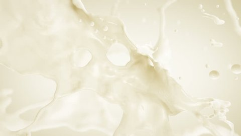 Milk Splash. Slow motion.With mask.