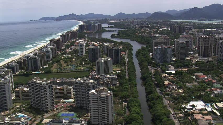 AERIAL Brazil-Over The Top Of Barra Da Tijuca 2014 | Shutterstock HD Video #10512887