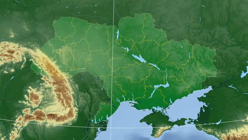 Guyana Shape Animated On The Relief Map Of The Globe Stock Footage - Guyana physical map