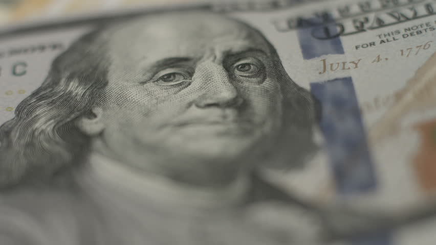Financial crisis, one hundred dollar bill, U.S. money, inflation