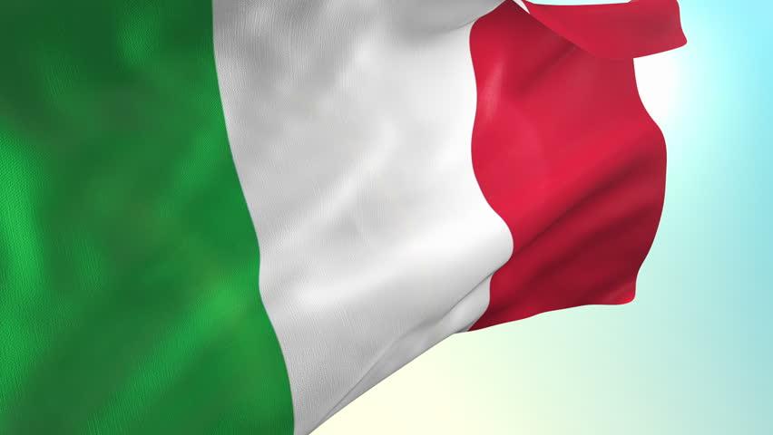 Italy flag animation