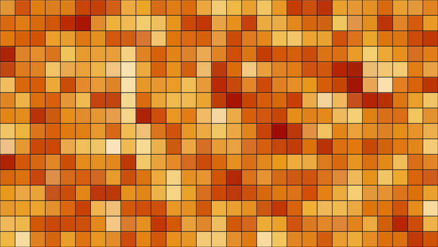 Moving Color Tiles looping animation of orange and red colored tiles changing color