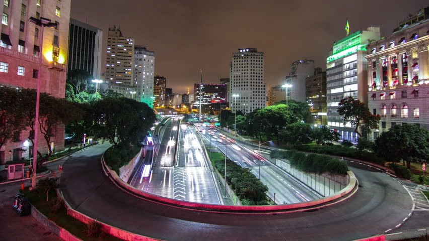 Timelapse of Brazil's largest city , a metropolis that never sleeps , São Paulo.