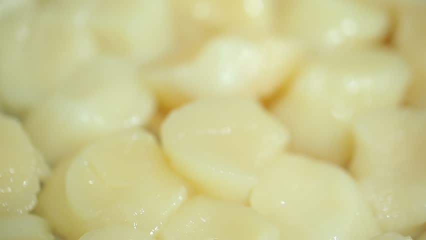 Ingredients: raw scallops closeup   Shutterstock HD Video #10648427
