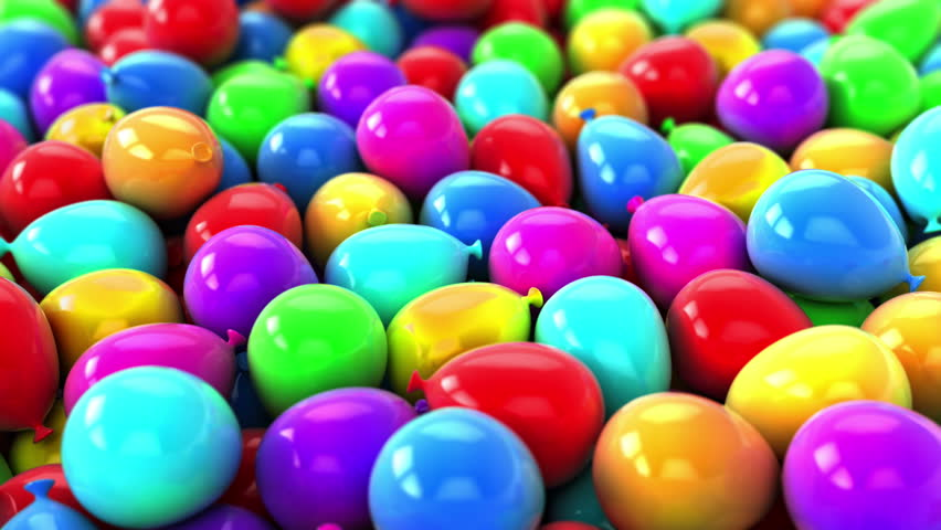 Colorful Balloons,Party Video transition Background. Many balloons fall, cover image and rises    Shutterstock HD Video #10660007