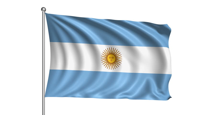 Argentina Flag With Fabric Structure Stock Footage Video 100