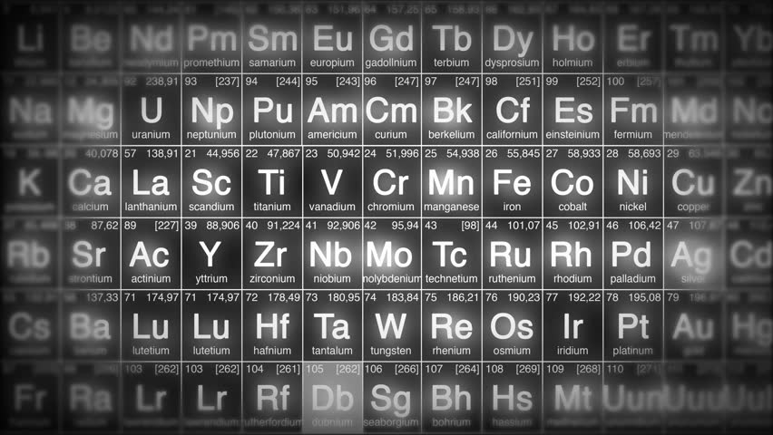 periodic table perfect loop background loopable blue white or red 4k ultra hd - Periodic Table Of Elements Hd
