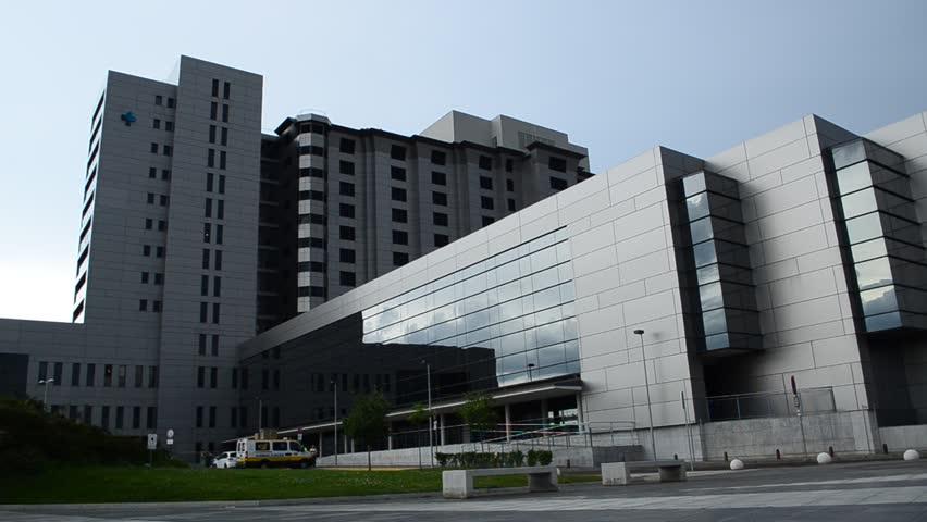LEON, SPAIN - JULY 2015. Health Care Hospital Exterior, Leon, Spain circa July 2015