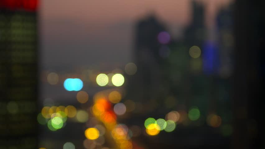 Night view of Doha city Qatar | Shutterstock HD Video #10739561