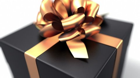 Unpacking a Gift. beautiful 3d animation with a depth of field. Full HD (version with a black gift. See more animations with presents in my portfolio)