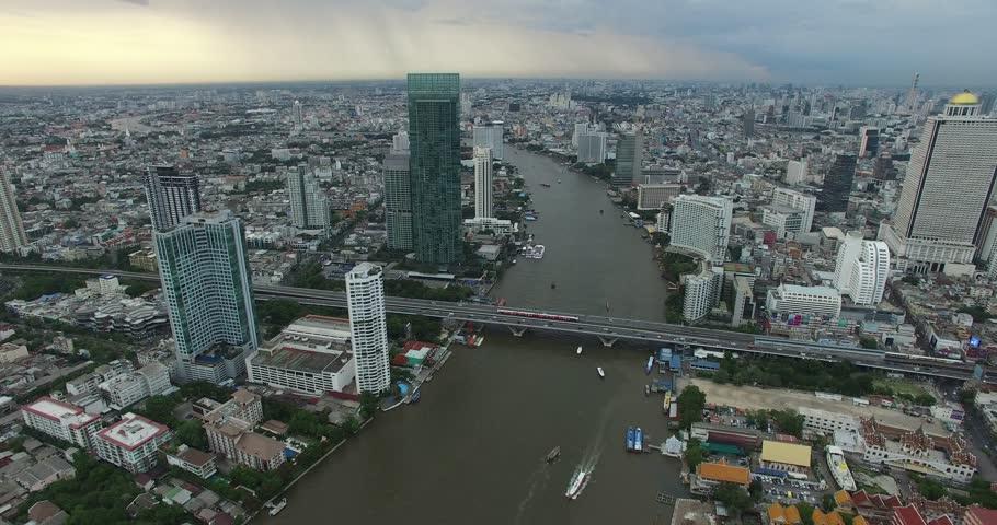 Bangkok City Footage Aerial View