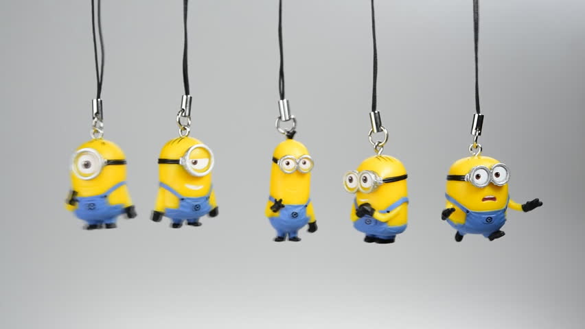 Bangkok,Thailand - July 17, 2015: keychain little Minions gachapon toy from japan