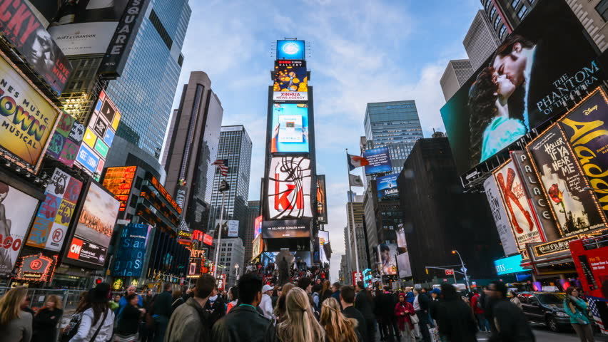 Timelapse of Times Square, New York, USA. In 4K. | Shutterstock HD Video #10836878