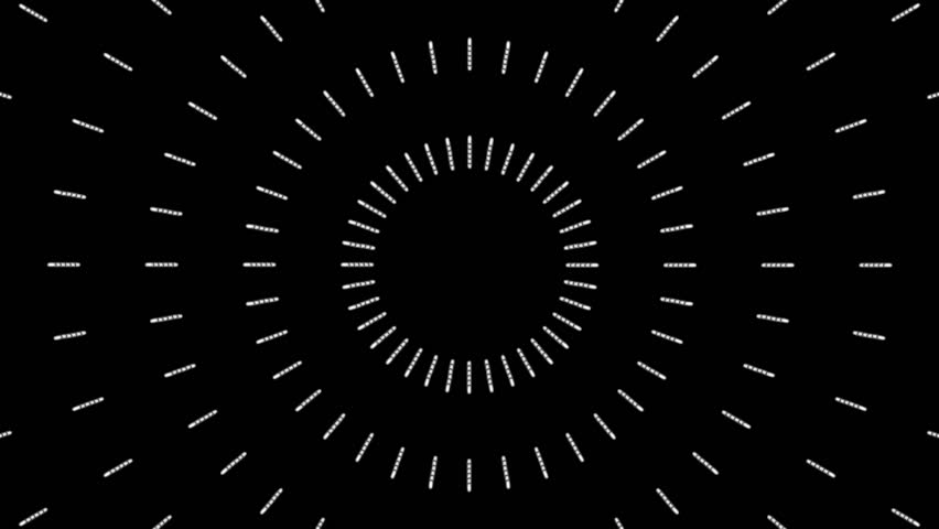 Loopable seamless cyclic animated sequence with expanding or collapsing geometric shapes. (full HD 1920x1080 10s 30fps).