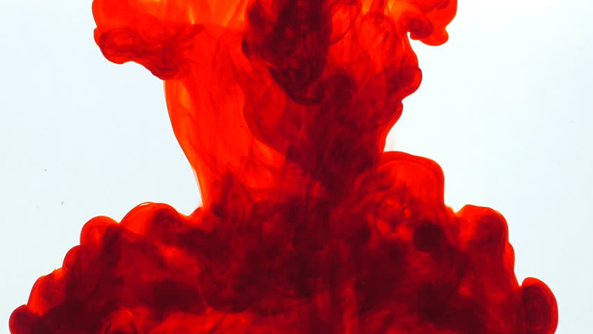 Red ink in water, slow motion, abstract. | Shutterstock HD Video #10860044