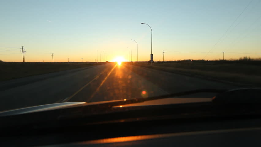 Driving Into Light And Into Sky >> Driving Into Morning Sun On Stock Footage Video 100 Royalty Free