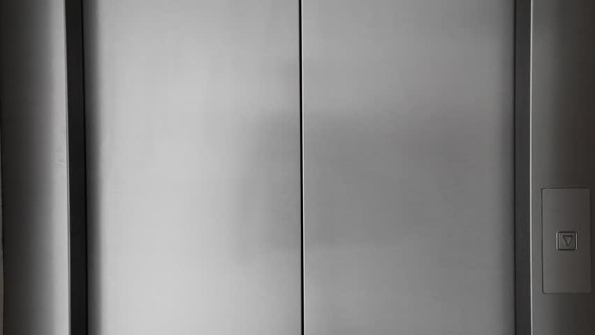 Elevator doors is opening - HD stock video clip & Man Push Button And Elevator Doors Open Stock Footage Video 15057985 ...