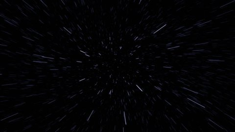 Shaking spinning POV of flying through blue star field - in 4k and 1080p