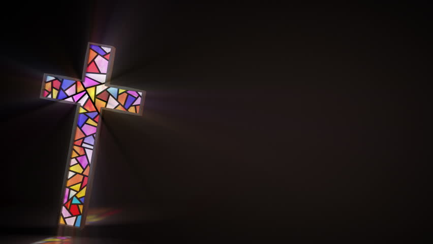 stained glass window in the stock footage video  100