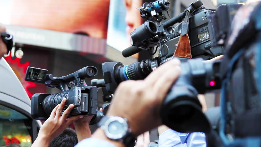 Paparazzis and Media Reporters Celebrity Breaking News HD | Shutterstock HD Video #10972757