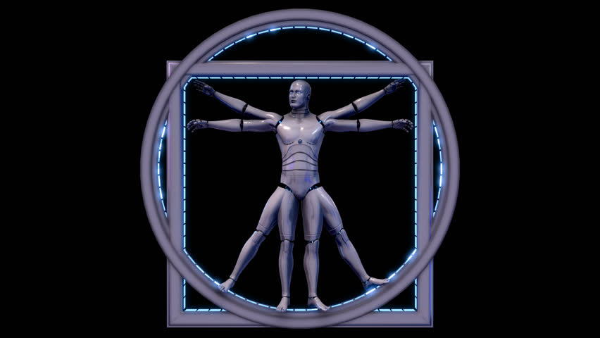 3d Vitruvian Man Robot Model Stock Footage Video (100% Royalty-free)  11021117 | Shutterstock