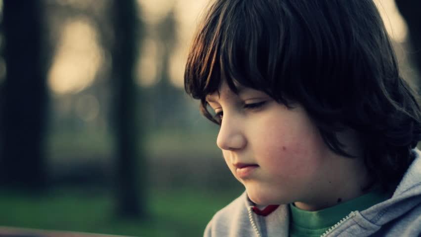 Young lonely sad boy portrait,