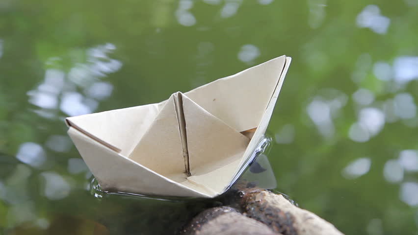 Origami Boat Made From A Stock Footage Video 100 Royalty Free
