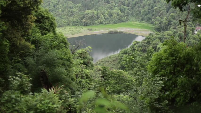 Khecheopalri Lake, Sikkim, India, Long shot