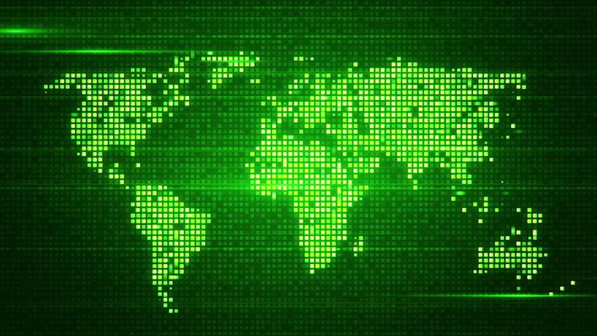 Digital Earth Loop Loop Of Digital Globe Made Of Small Dots