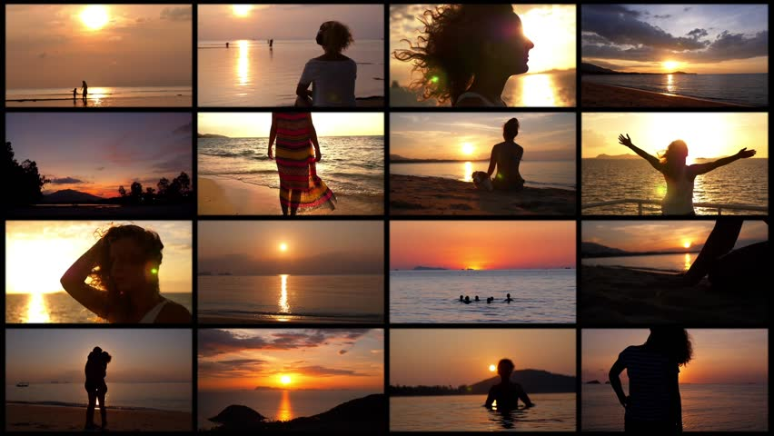 Montage Romantic Vacation. Sunset Concept | Shutterstock HD Video #11232797