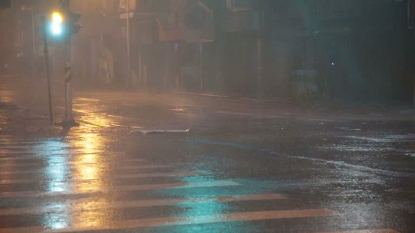 bad weather rain and wet snow on the night road night driving wet slippery road reflections. Black Bedroom Furniture Sets. Home Design Ideas