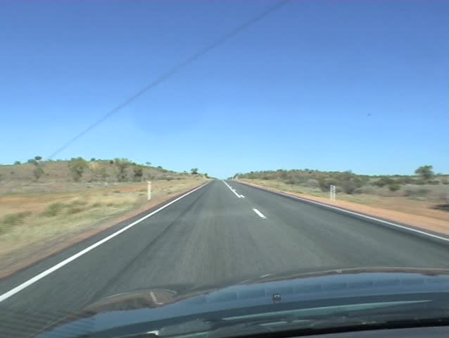 Time Lapse shot driving in the vast Australian outback.