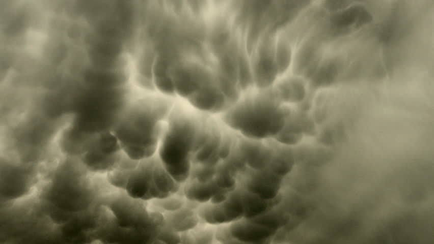 Menacing Mammatus. Look up as the anvil of a severe thunderstorm drifts overhead